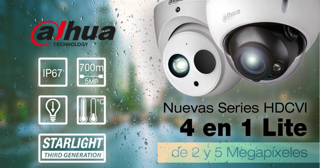 Nuevas series DAHUA HDCVI 4 en 1 Lite de 2 y 5 megapíxeles