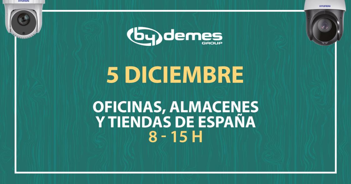 Horario especial del 5 de diciembre en todas las delegaciones de España