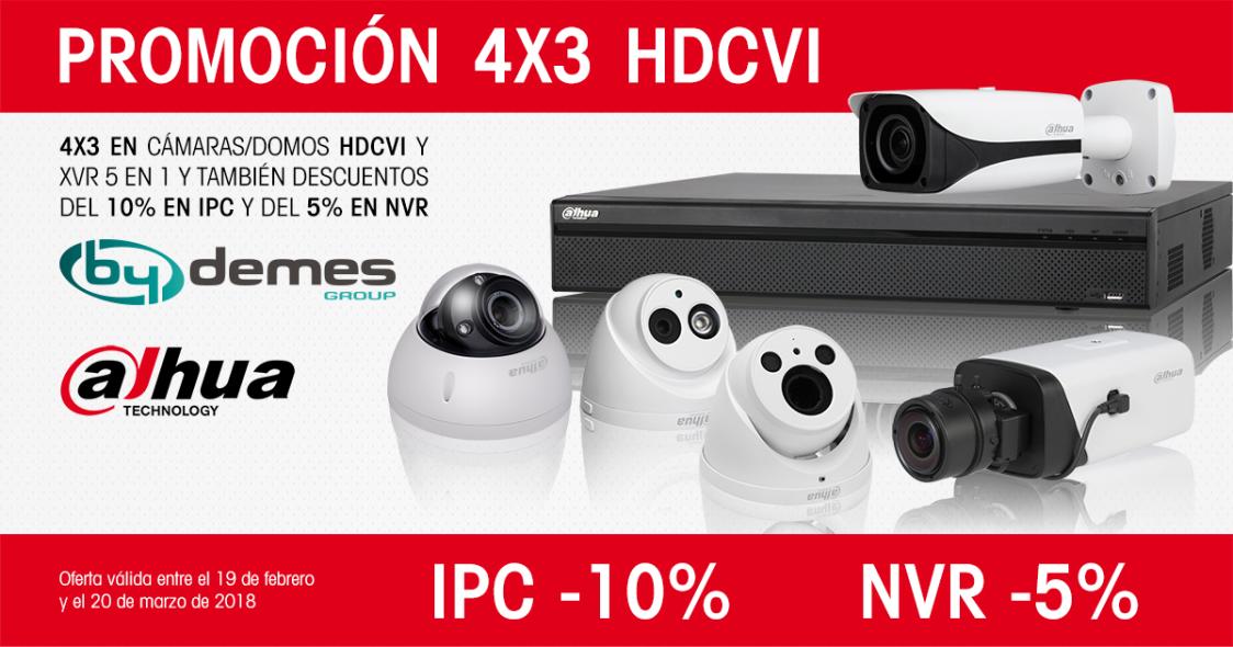 ¡Nueva promoción DAHUA: 4x3 en HDCVI y descuentos del 10% en IPC y 5% en NVR!