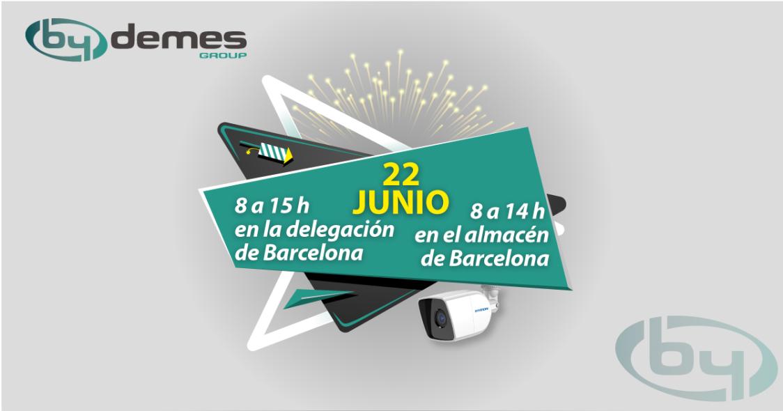Horario especial del 22 de junio en la delegación y almacén de Barcelona