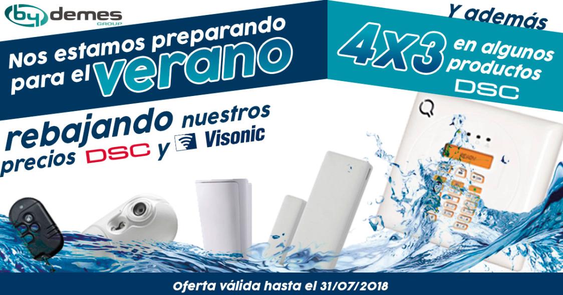 ¡Rebajamos nuestros precios DSC y VISONIC y 4x3 en productos DSC seleccionados!