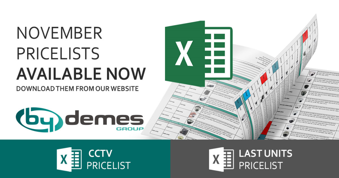 New November CCTV and last units pricelists are now available!
