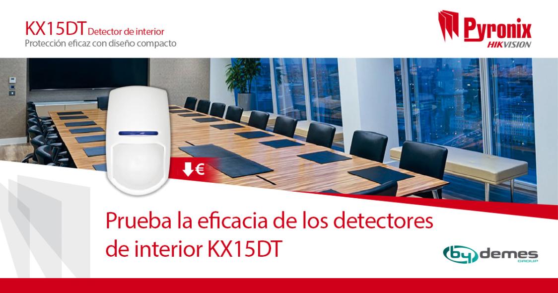 ¡El eficaz detector de interior KX15DT PYRONIX ahora al mejor precio!