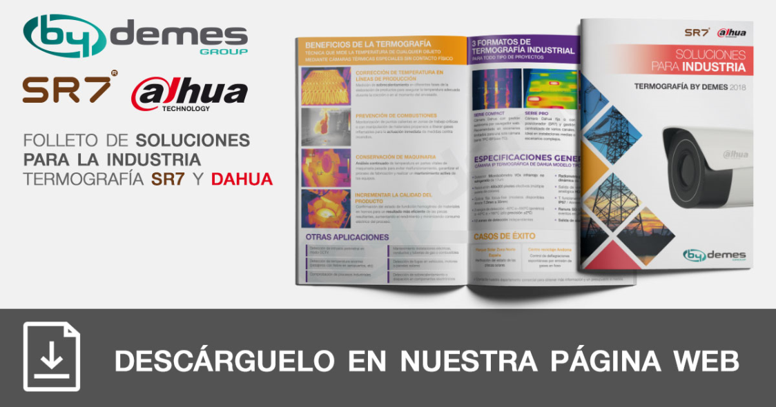 Nuevo folleto de soluciones industriales de termografía SR7 y DAHUA en formato pocket