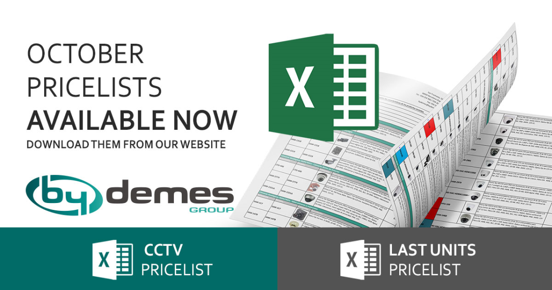 New October CCTV and last units pricelists are now available!