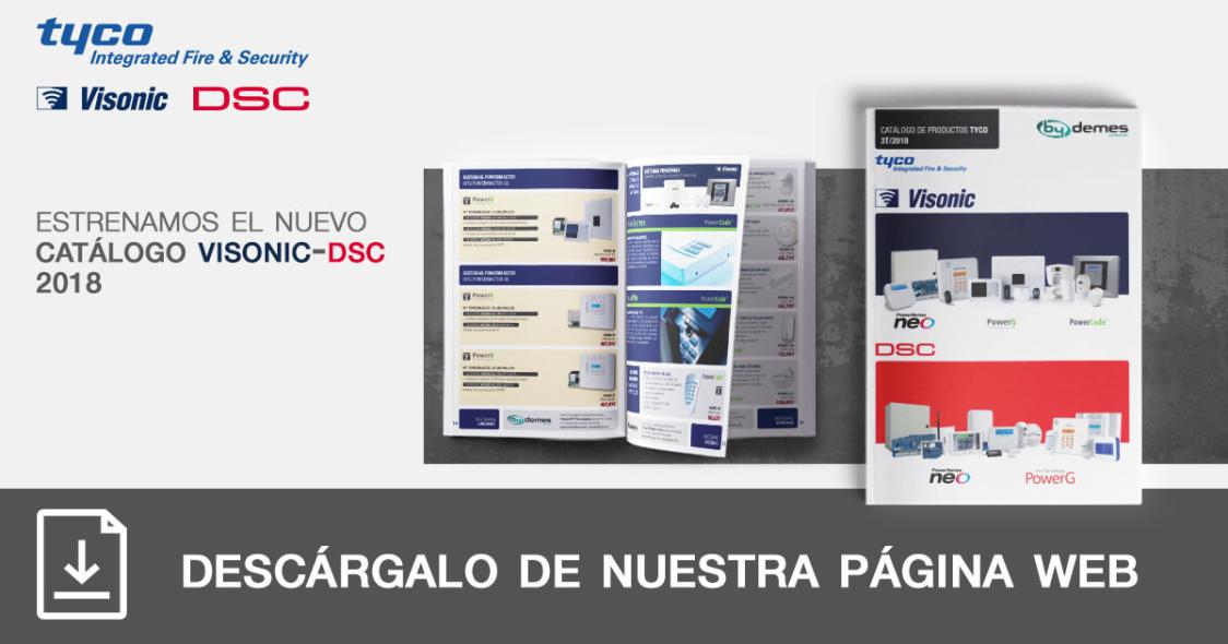 Nuevo catálogo VISONIC-DSC 2018 en formato pocket