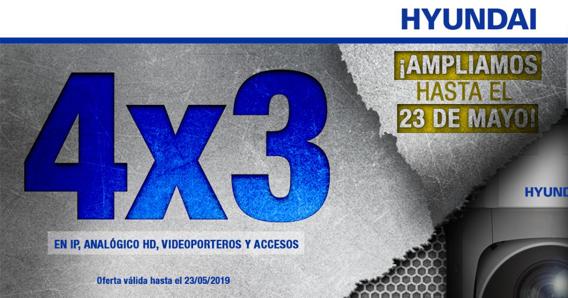 ¡Ampliamos el 4x3 en IP, analógico HD, videoporteros y accesos HYUNDAI!