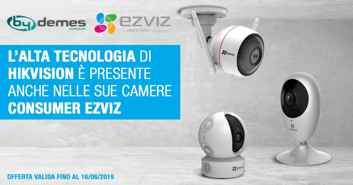 L'alta tecnologia di Hikvision è presente anche nelle sue camere consumer EZVIZ