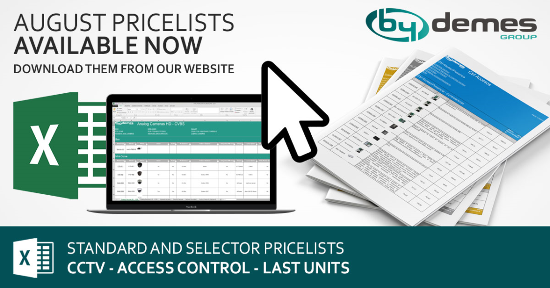 New standard and selector August pricelists available now!