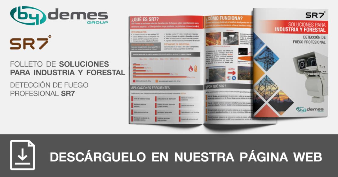 Nuevo folleto de soluciones para industria de detección de fuego profesional SR7 en formato pocket