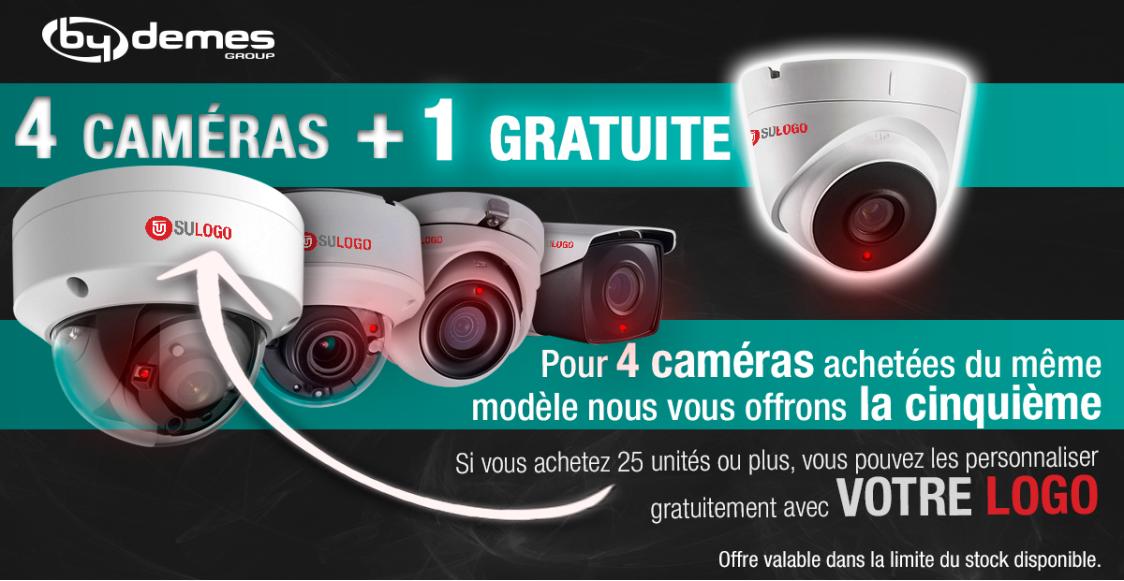 4 caméras + 1 gratuite avec votre logo!