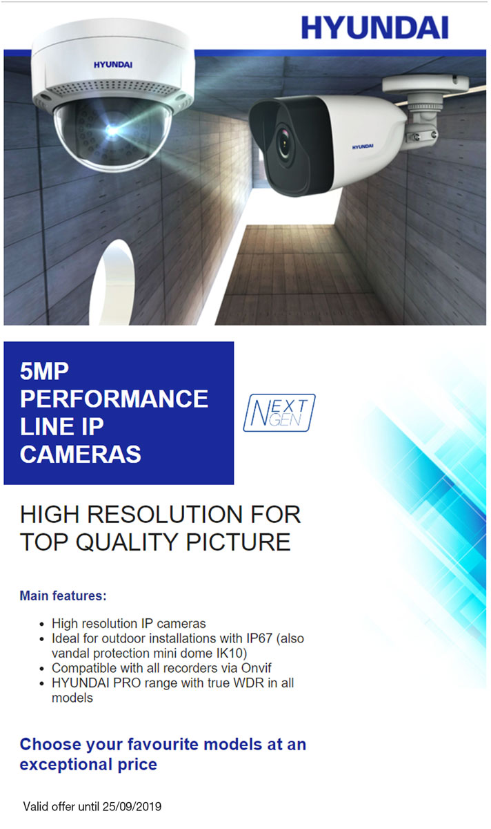 New 5MP HYUNDAI IP Performance Line cameras: high resolution for top quality picture