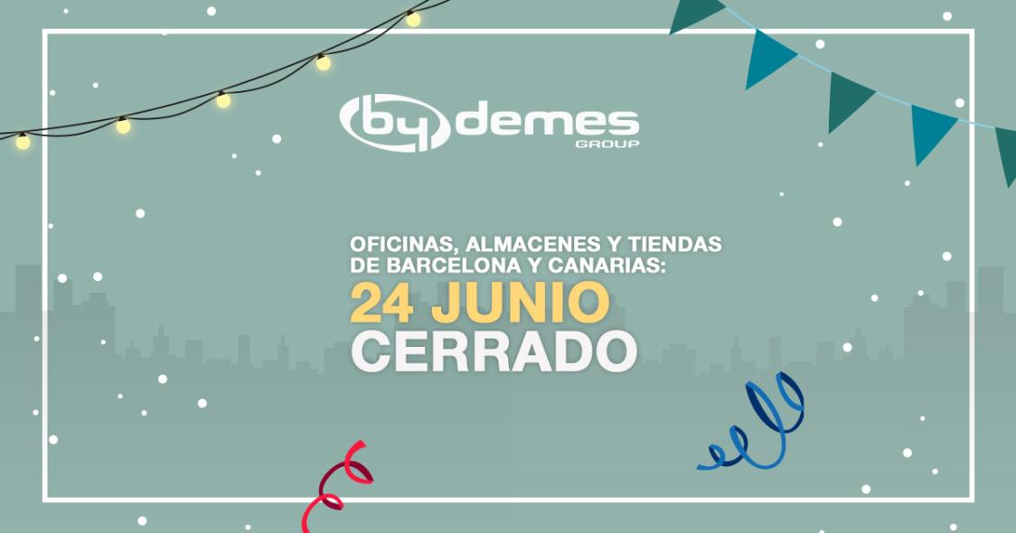 El 24 de junio cerramos en las delegaciones de Barcelona y Canarias
