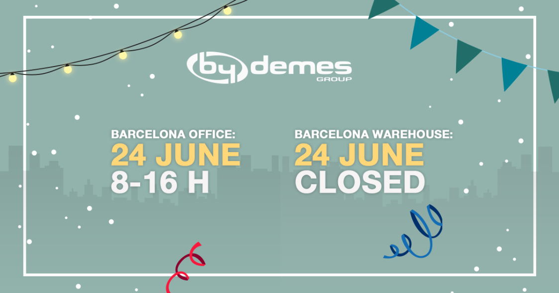 Special schedule for June 24 in Barcelona office and warehouse