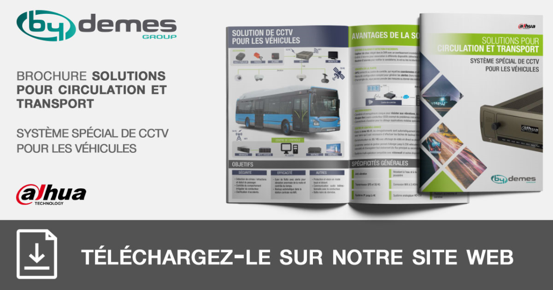 Nouvelle brochure de solutions pour transport de système spécial DAHUA de CCTV pour les véhicules en format pocket