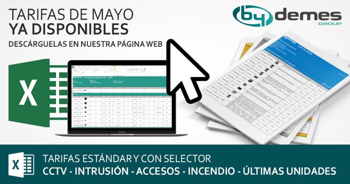¡Ya disponibles las nuevas tarifas estándar y con selector de mayo!