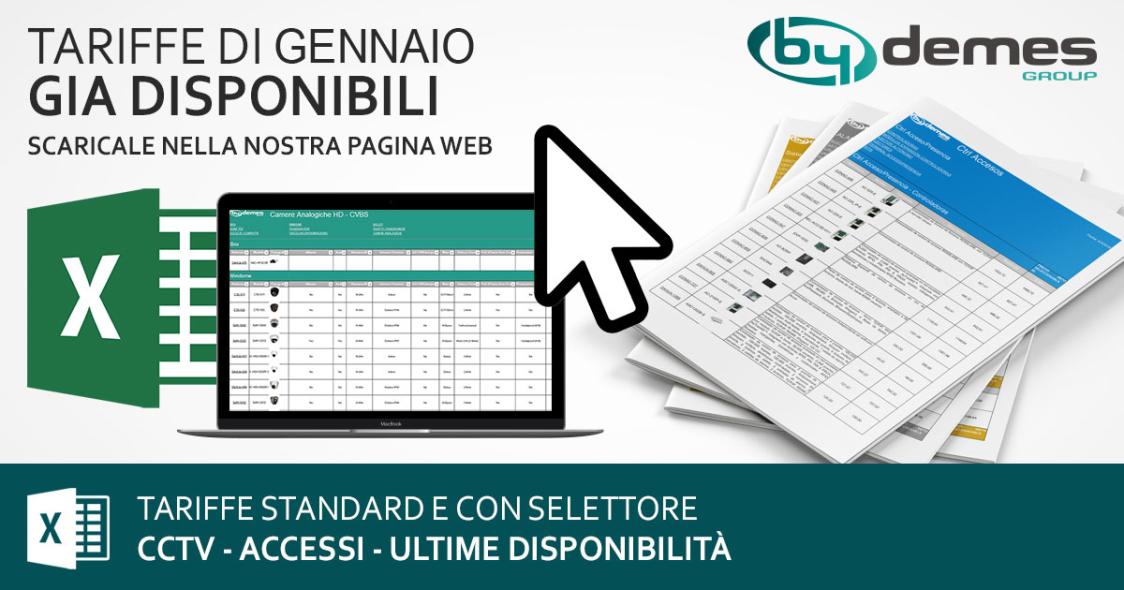 Le nuove tariffe standard e con selettore di Gennaio sono gia disponibili!