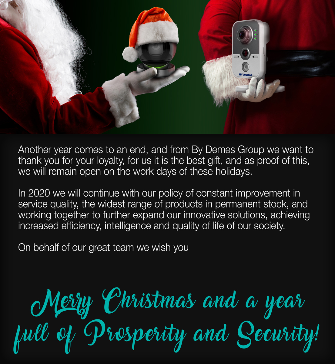 Merry Christmas and a year full of Prosperity and Security!