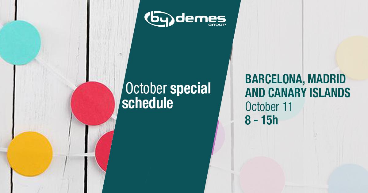 October special schedule