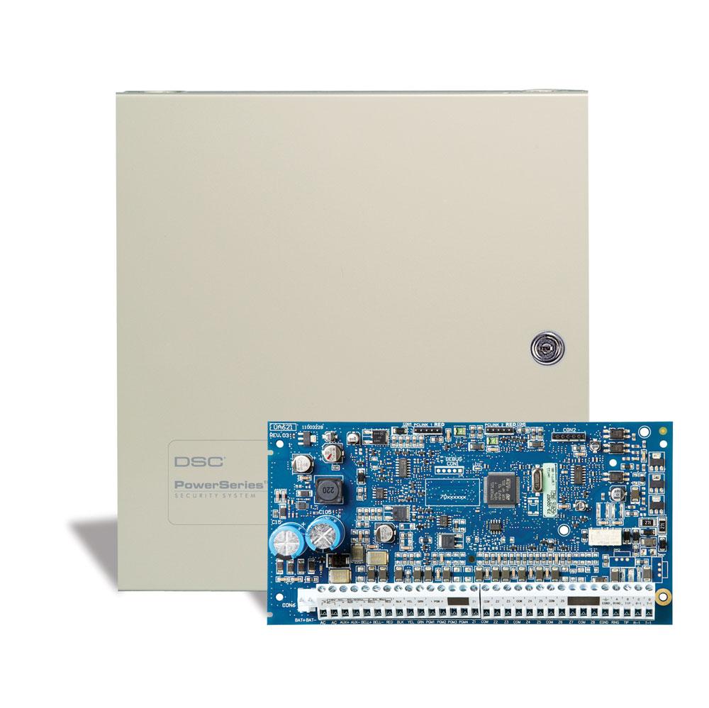 Resultado de imagen para Central Power 8 Zonas hasta 64 + Comunicador Digital + Teclado LCD Alfanumérico y Transformador DSC